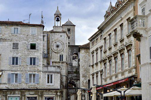 Split, Croatia, City, History, Europe, Building, Old