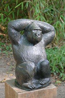 Sculpture, Figure, Art, Africa, African, Stone, Monkey