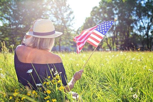 Fourth Of July, Waving Flag, American Flag, Summer