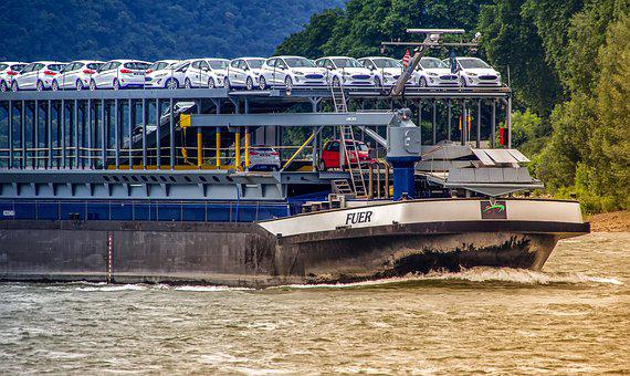 Frachtschiff, Autotransport, Rhine Cruises, Ship