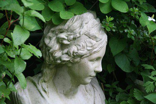 Female Bust, Garden, Statue, Sculpture, Figure