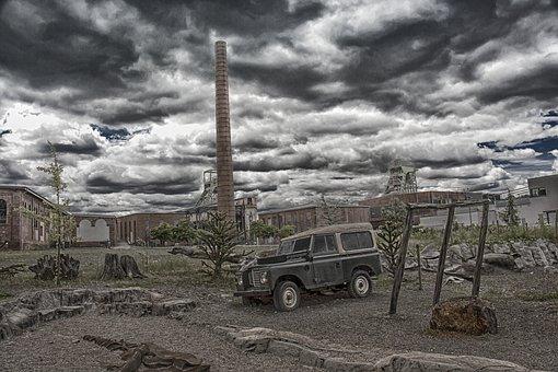 Industry, Desert, Gloomy, Hdr