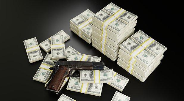 Money, Dollars, Gun, Mafia, Bribe, Bloody, Profit, Rich