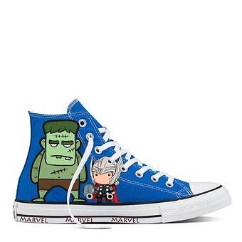 Custom, Shoes, Mavel, Thor, Hulk, Converse