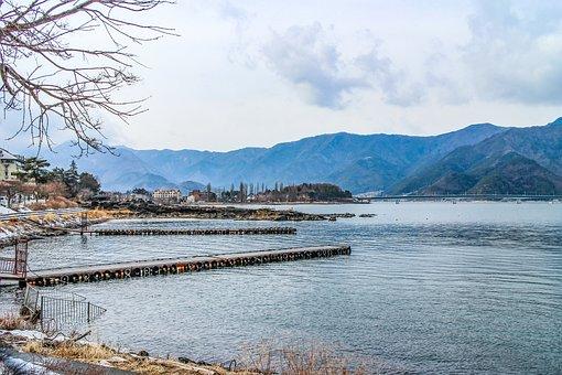 Japan, Kawaguchiko, Travel, The Scenery, Lake, Winter