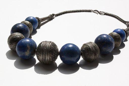 Chain, Jewellery, Necklace, Beads, Lapis Lazuli