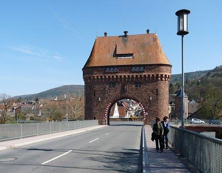 Zwillingstor, Main Bridge, Miltenberg, Main, Bavaria