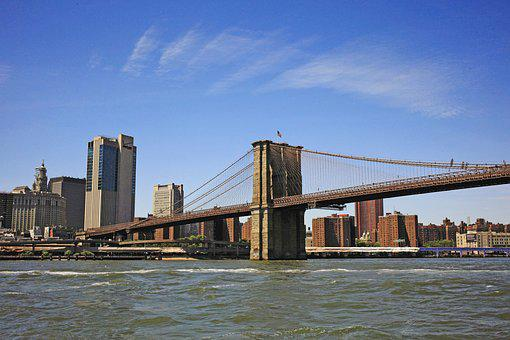 Bridge, New York, Manhattan, Urban, Brooklyn Bridge