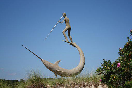 Statue, Martha's Vineyard, Whaling, Menemsha, Fishing