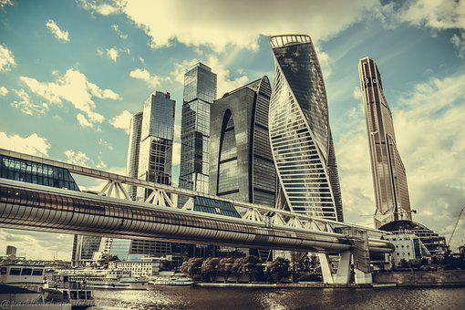 Moscow City, Moscow, Skyscraper, City, Megalopolis