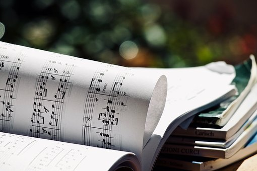 Score, Music, Musical Notes, Books, Background, Classic