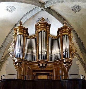 Organ, Pipes, Church, Instrument, Music, Religious