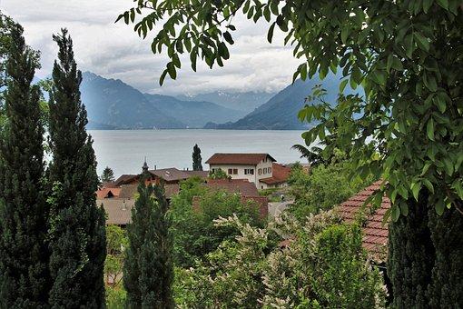 Alpine, Lake, High, Mountains, Landscape, Panorama