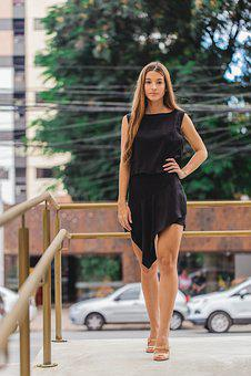 Fashion, Model, Clothes, Dress, Long Hair, Railings
