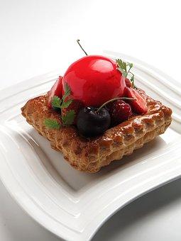 Fruit, Cake, Ruby, Dessert, Food, Sweet, Red, Summer