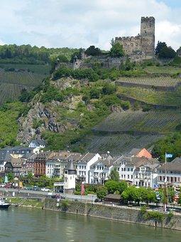 Castle, Pfalzgrafenstein, River, Rhine, Kaub