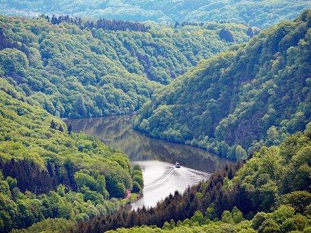 In The Saar Loop, Saar, River, Narrow Valley, Meander