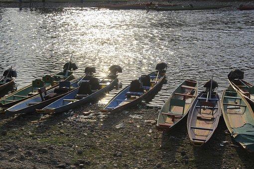 Boat On The River Side, River Side, River