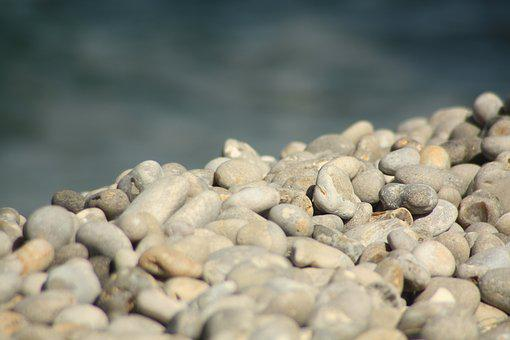 Pierre, Beach, Sea, Side, Ocean, Nature, Rocks, Shore
