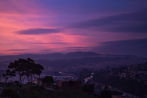 San Francisco, Sunrise, Water, Sunset, Summer