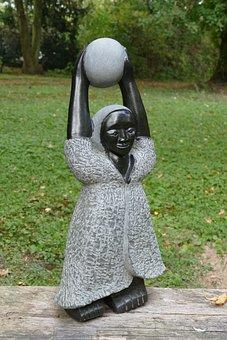 Sculpture, Figure, Art, Africa, African, Stone, Woman