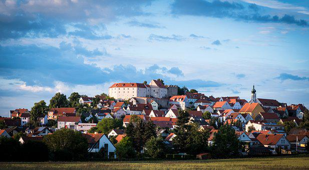 Village, Market, Lupburg, Upper Palatinate, Castle