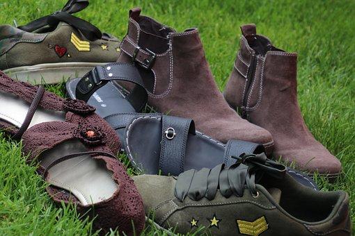 Old Shoes, Wear, Shoes, Footwear, Sole, Skin, Brown