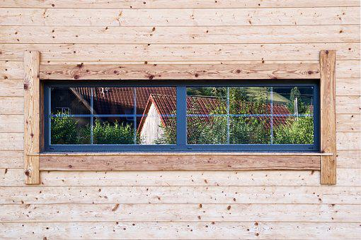 Window, Wood, Facade, Hauswand, Wall, Mirroring