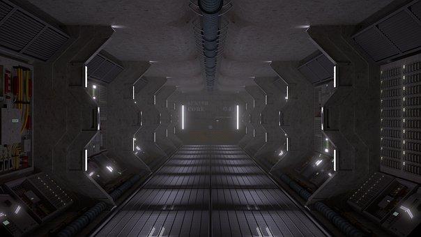 Sci-fi, Spaceship, Futuristic, Future, Technology, 3d
