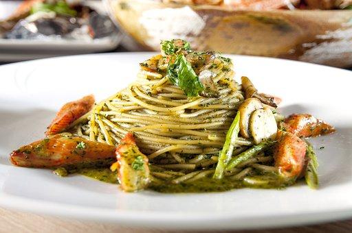 Crab Meat, Basil, Pasta