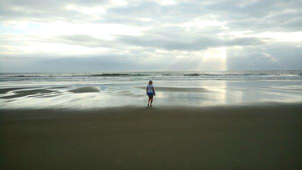 Beach, Nature, Sol, Mar, Landscape, Sky, Clouds, Blue