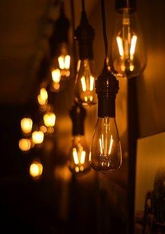 Bokeh, Lights, Cafe