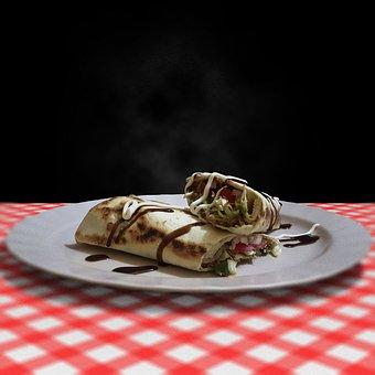 Burrito, Sandwich, Food, Fast Food, Bread, Baguette