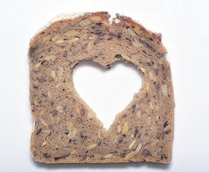 Bread, Heart, Food, Breakfast, Love, Baked, Delicious