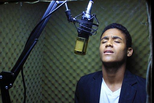 Microphone, Audio, Mic, Voices, Bright, Corner