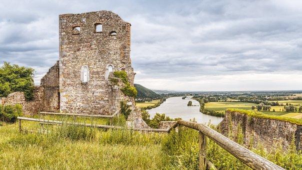 Burgruine, Donaustauf, Danube, Castle, Building, Hill