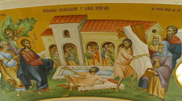 Church, Orthodox, Golden, Image, Icon, Fresco