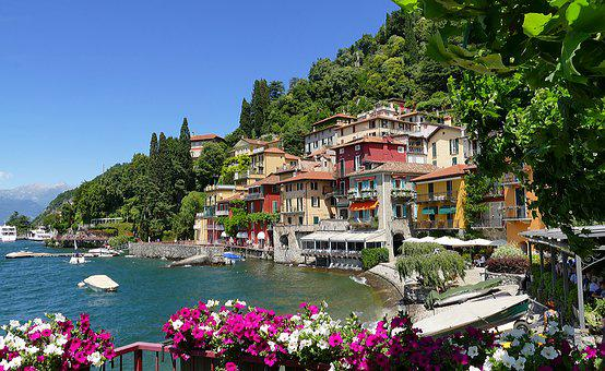 Italy, Lake Como, Varenna, Lake, Holiday, City