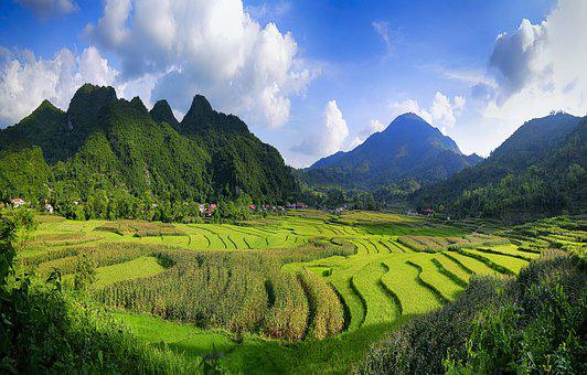 Vietnam, Canh Dep, Clouds, Mountain, Ball, The Waves