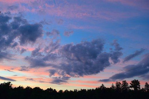 Sunset, Sky, Clouds, Nature, Evening, Dusk, Landscape