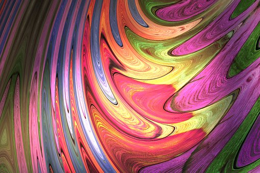 Streak, Colorful, Iridescent, Color, Marble, Design