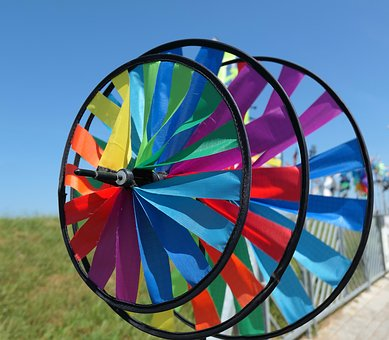 Windspiel, Colorful, Rotation, Color, Garden, Rotated