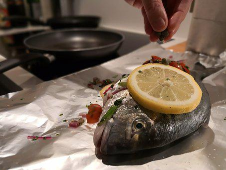 Cook, Fish, Lemon, Chef, Restaurant