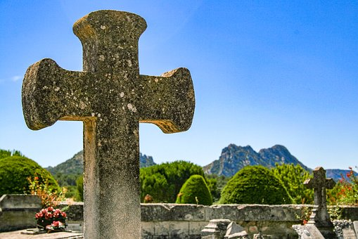 Provence, Cemetery, Luberon, Mountain, Cross, Grave