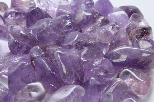 Amethyst, Spiritual, Rolled, Stone, Cure, Natural
