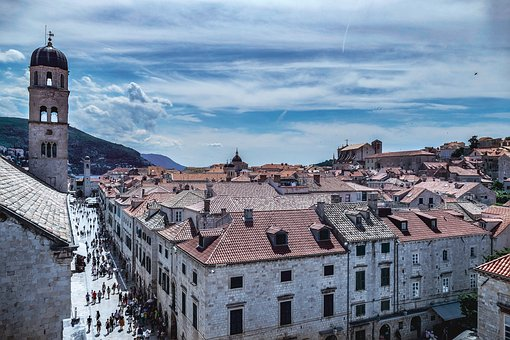 Dubrovnik Croatia Summer Time, Architecture, Old, Town
