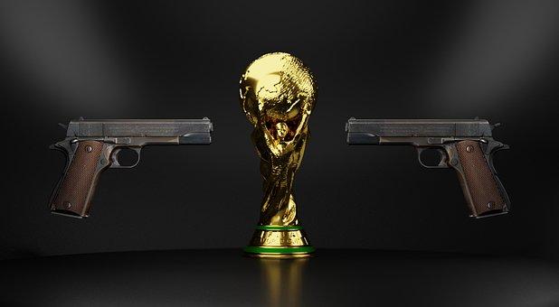 World, Cup, Gun, Football, Russia, Sport, 2018