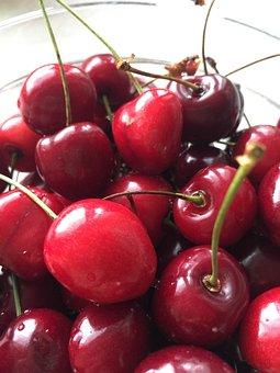 Cherries, Fruit, Eating, Fresh, Spring, Kitchen, Nature