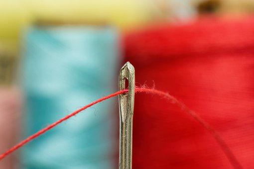 Needle, Thread, Sewing, Tailoring, Haberdashery, Macro