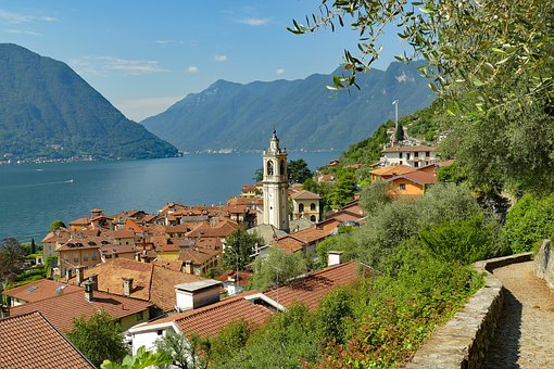 Italy, Lake Como, Sala Comacina, Lake, Holiday, City